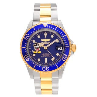Invicta Men's 22778 Disney Two Tone Stainless Steel Blue Dial Link Bracelet Watch