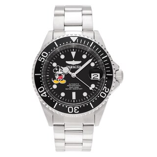 Invicta Men's 22777 Disney Stainless Steel Black Dial Link Bracelet Watch