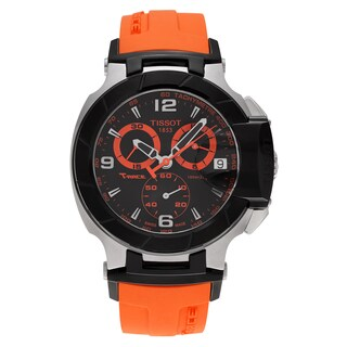 Tissot Men's 'T-Race' T048.417.27.057.04 Stainless Steel Chronograph Silicone Strap Watch