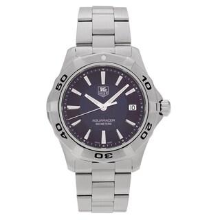 Tag Heuer Men's 'Aquaracer' WAP1112.BA0831 Stainless Steel Blue Dial Link Bracelet Watch