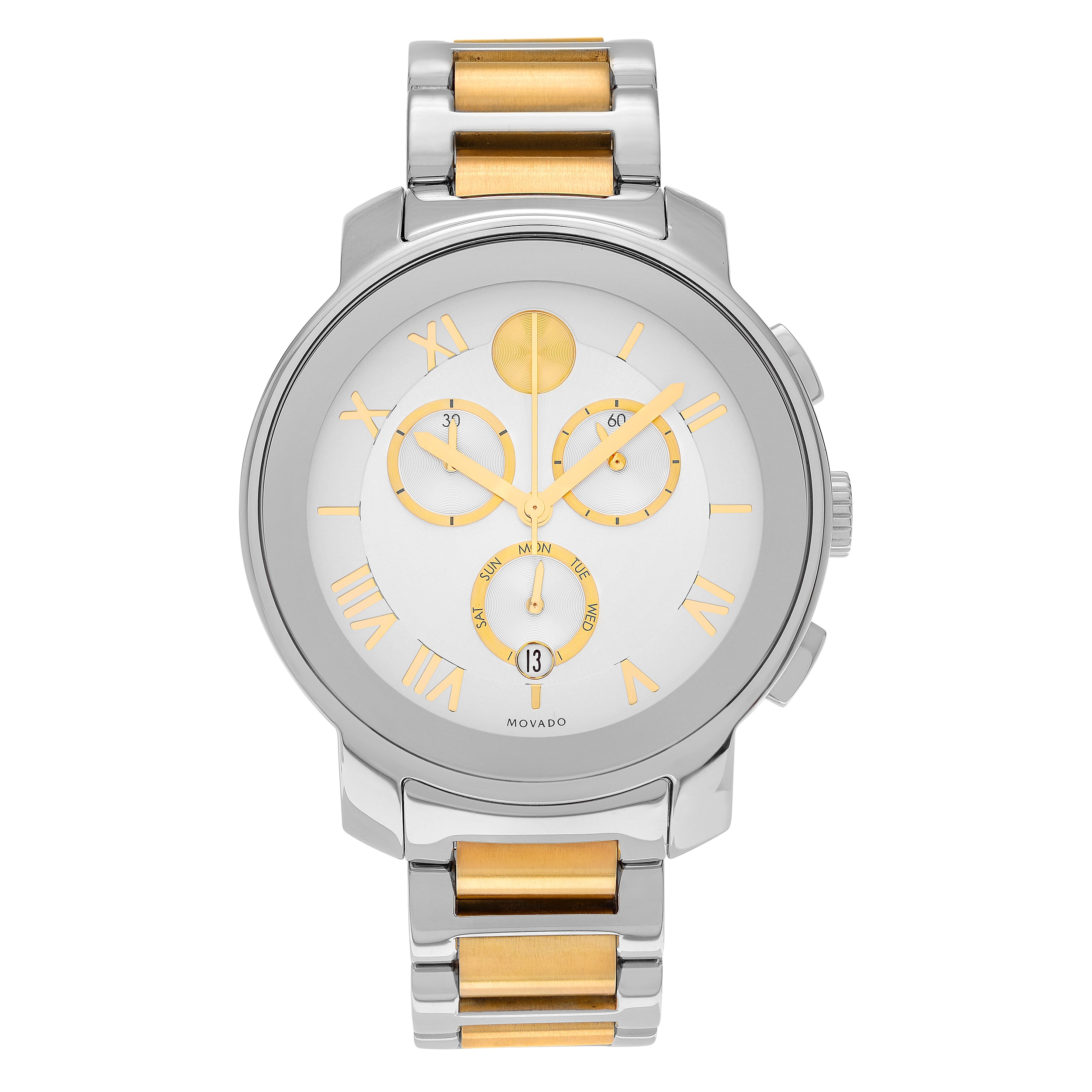 Movado Men's 3600280 'Bold' Two Tone Stainless Steel Chro...
