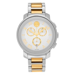 Movado Men's 3600280 'Bold' Two Tone Stainless Steel Chronograph Link Bracelet Watch