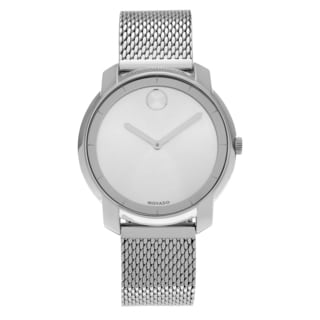 Movado Women's 'Bold' 3600241 Stainless Steel Round Face Mesh Link Bracelet Watch