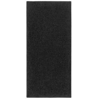 Plush Acrylic Pile Runner Rug Black (2' x 5')