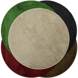Round Acrylic Pile Accent Rug Assorted Colors (2')