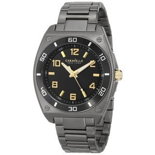 Caravelle New York by Bulova Men's 45A118 Japanese Quartz Black Watch
