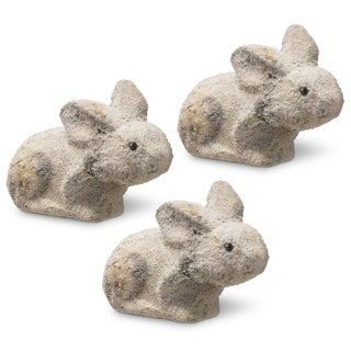 The National Tree Company White 6-inch Decorative Rabbit (Set of 3)