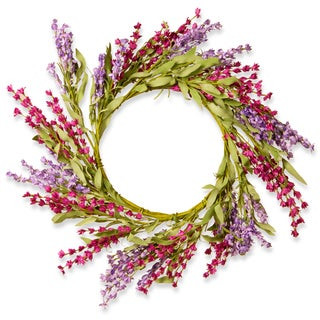 National Tree Company Multicolored Floral Lavendar Wreath Decor