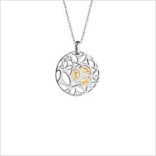 Di Modolo Rhodium-plated Sterling Silver Golden Quartz Necklace