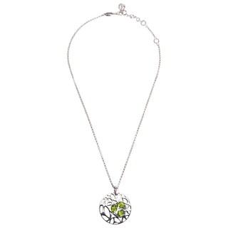 Di Modolo Rhodium-plated Sterling Silver Green Quartz Necklace