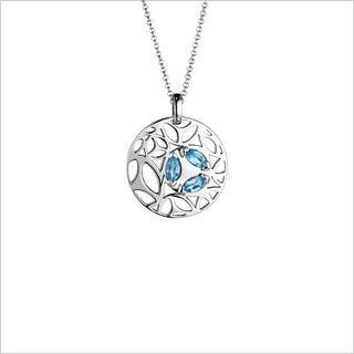 Di Modolo Rhodium-plated Sterling Silver Blue Quartz Necklace