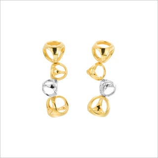 Di Modolo 18k Yellow Gold and Rhodium-plated Sterling Silver Drop Earrings