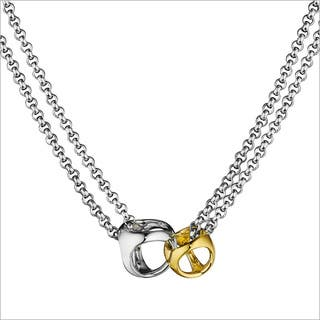 Di Modolo 18k Yellow Gold and Rhodium-plated Sterling Silver Link Necklace|https://ak1.ostkcdn.com/images/products/13554660/P20232386.jpg?impolicy=medium