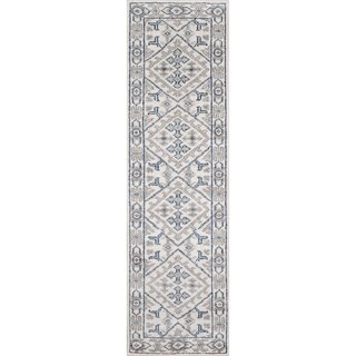 "Hand-Knotted Corbett Ivory Viscose Rug (2'3"" x 8')"