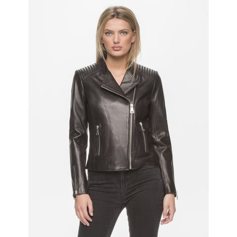 Marc New York Women's Selena Black Leather Jacket