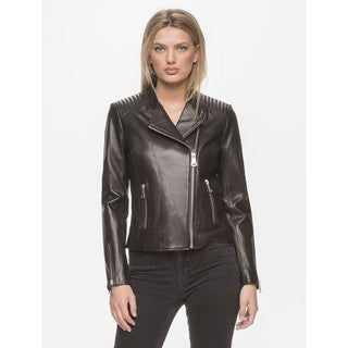 Marc New York Women's Selena Black Leather Jacket