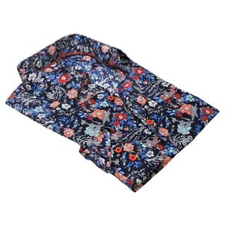 Rosso Milano Men's Flowered Printed Dress Shirt