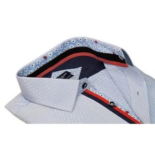 Rosso Milano Mens Jacquard Print Dress Shirt