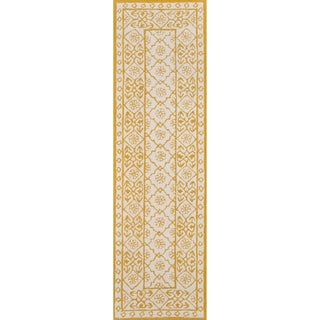 "Momeni Newport Blue Hand-Tufted Wool Runner Rug - 2'3"" x 8'"