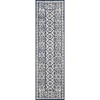 "Momeni Newport Blue Hand-Tufted Wool Runner Rug - 2'3"" x 8'"
