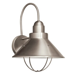 Kichler Lighting Seaside Collection 1-light Brushed Nickel Fluorescent Outdoor Wall Sconce