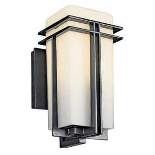 Kichler Lighting Tremillo Collection 1-light Black Fluorescent Outdoor Wall Sconce