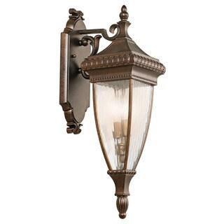 Kichler Lighting Venetian Rain Collection 2-light Brushed Bronze Outdoor Wall Lantern