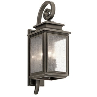 Kichler Lighting Wiscombe Park Collection 3 Light Olde Bronze Outdoor Wall  Sconce