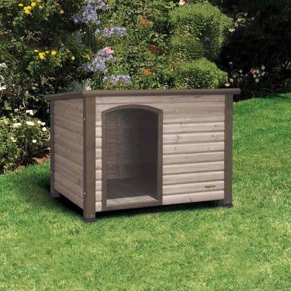 Precision pet 39extreme outback39 log cabin dog house free for Outback log cabin dog house