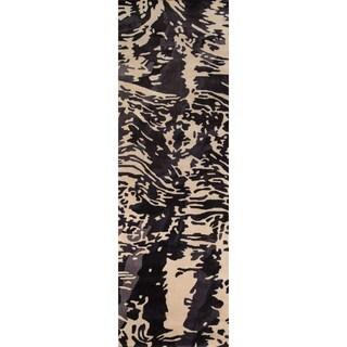 "Hand-Tufted New Wave Ravine Wool Rug (2'6"" x 12')"