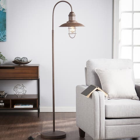 Carbon Loft Dratch Caged Bell Floor Lamp