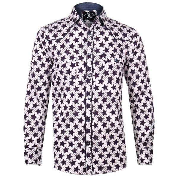 Shop Men S Star Print Long Sleeve Western Inspired Button Down