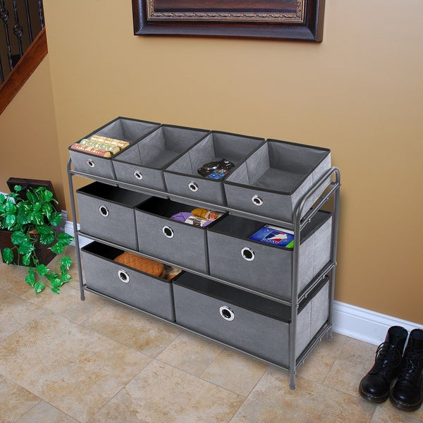 Multi Bin Storage Organizer   Charcoal Gray