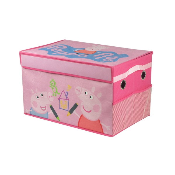 Peppa Pig Pink Mini Collapsible Storage Trunk
