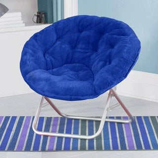Faux-Fur Saucer Chair (Option: ROYAL BLUE)