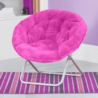 Faux-Fur Saucer Chair