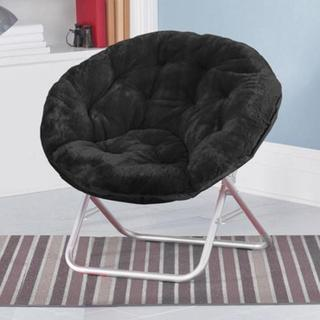 Faux-Fur Saucer Chair