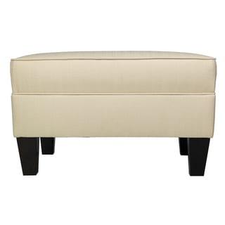 MJL Furniture Parker Fabric Upholstered Square Welted Ottoman