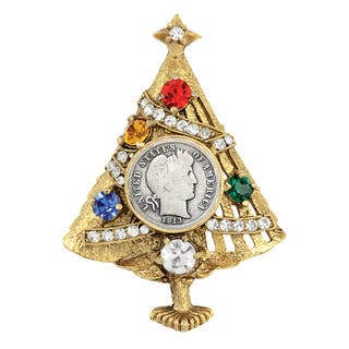 Silver Barber Dime Christmas Tree Brooch|https://ak1.ostkcdn.com/images/products/13554936/P20232602.jpg?impolicy=medium