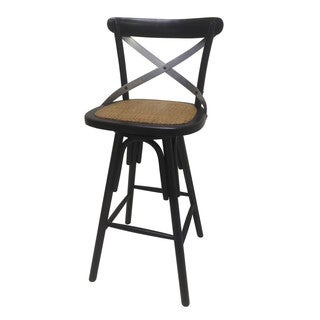 Heavy Distressed Metal X Back Barstool Free Shipping