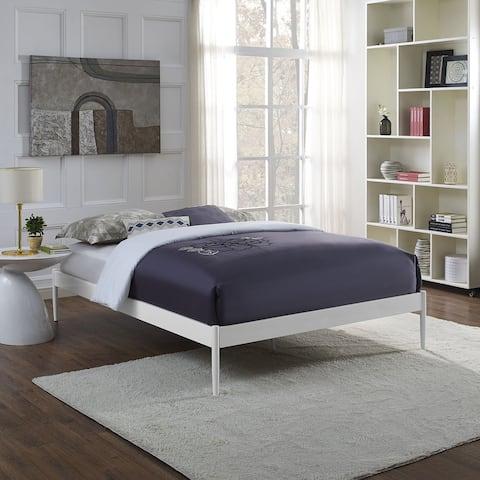 Elsie Metal Bed Frame in White Size - Full