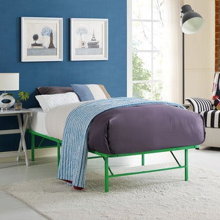 Horizon Stainless Steel Twin Bed Frame in Green