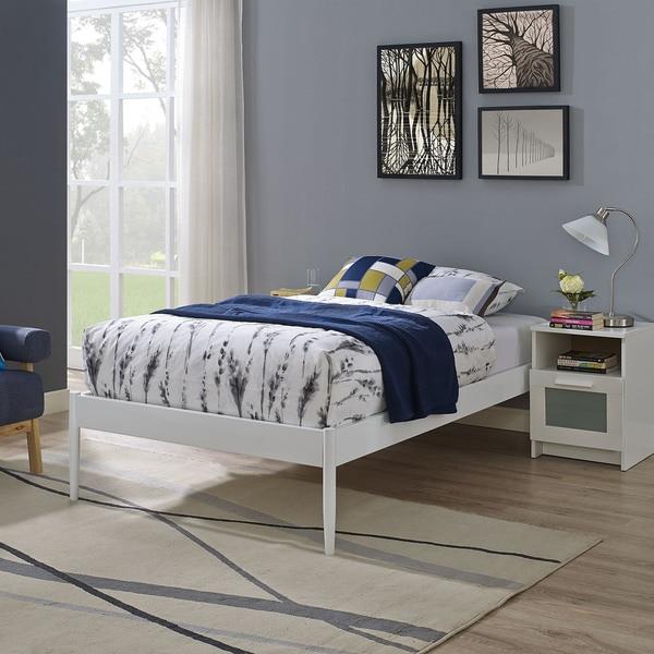 Elsie Fabric Bed Frame In White