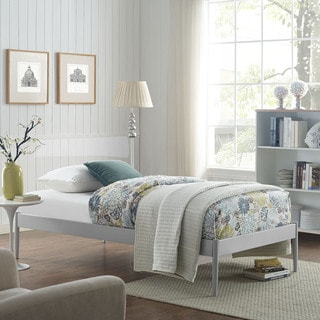 Elsie Fabric Bed Frame in Gray