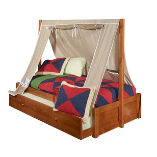 Powell Aspen Honey Tent Bed and Trundle