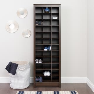 Prepac Everett Espresso Laminate Space-saving Shoe Storage Cabinet|https://ak1.ostkcdn.com/images/products/13555034/P20232686.jpg?impolicy=medium