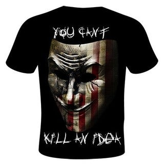 Daveed Benito Men's 'You Can't Kill an Idea' Black Cotton Graphic T-shirt