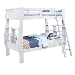 Powell Casey White Twin-size Pine Wood Bunkbed