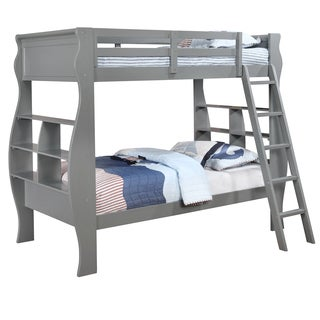 Powell Casey Grey Twin-size Pine Wood Bunkbed