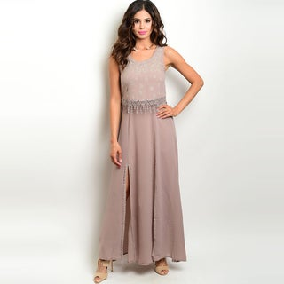 Shop The Trends Polyester Women's Sleeveless Maxi Dress